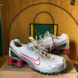 Nike Shox Women's Running 7 White Pink Silver 2006